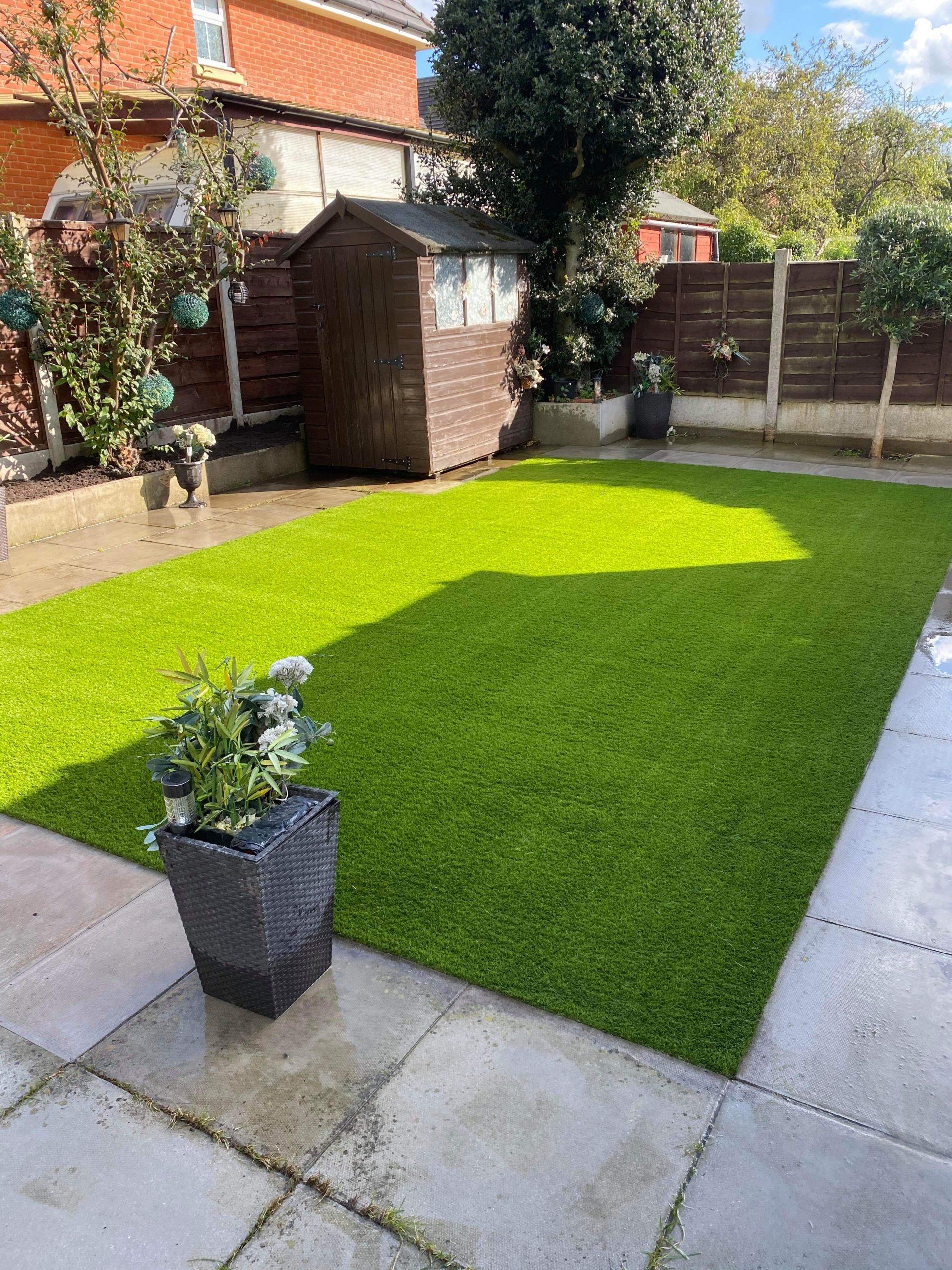 artificial grass after